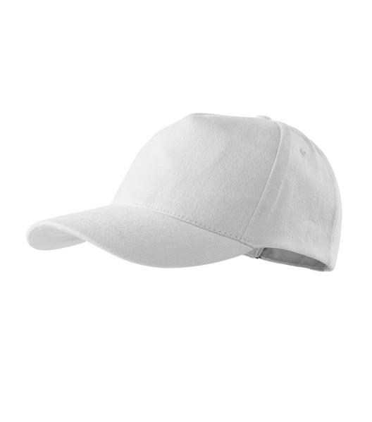 Čepice unisex Malfini 5P - Bílá / nastavitelná