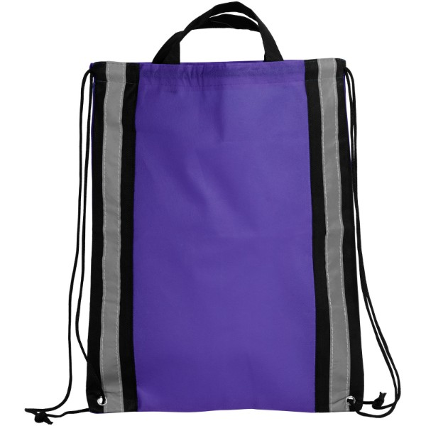 Reflective non-woven drawstring backpack - Purple