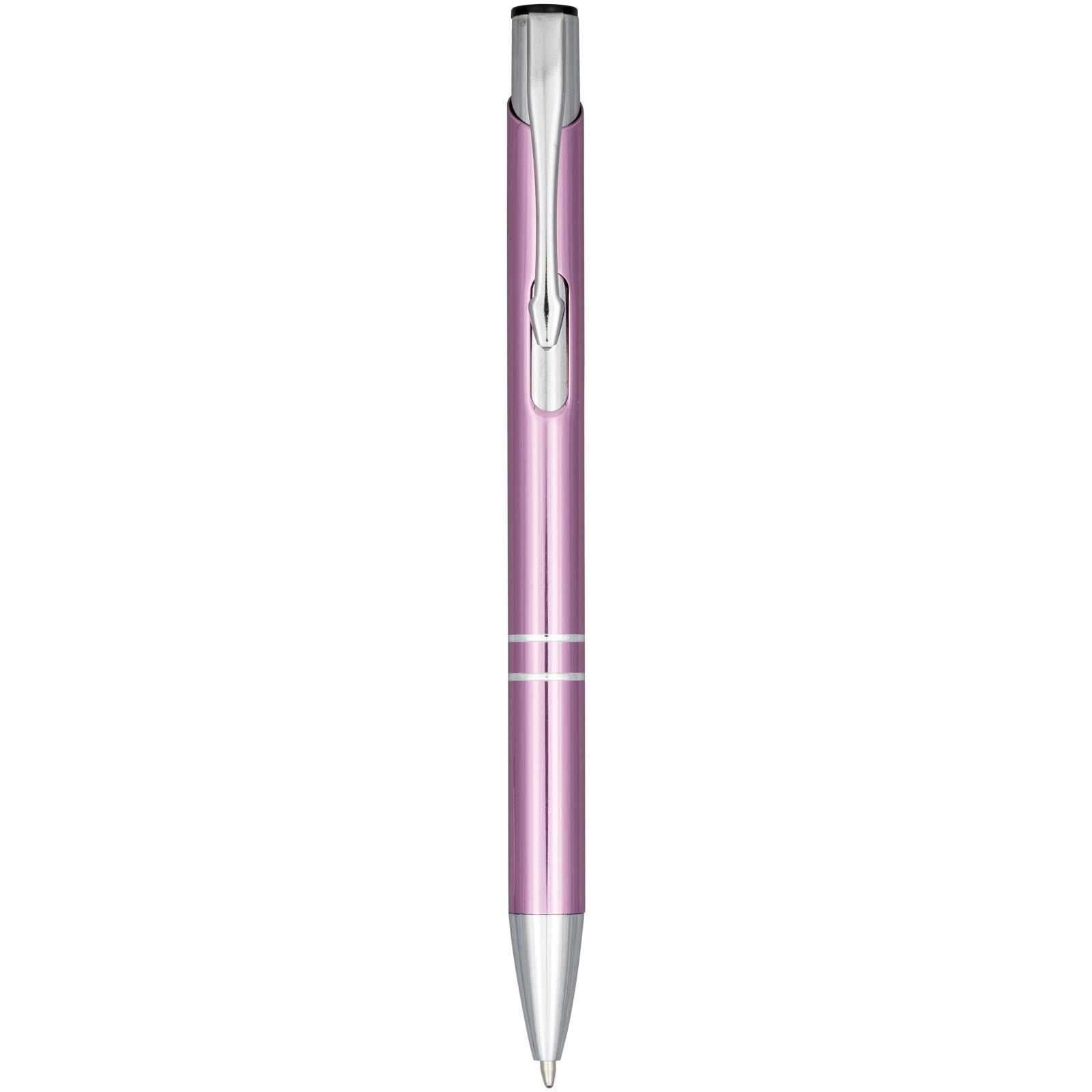 Anodizované kuličkové pero Moneta - Magenta