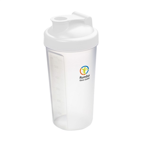 Shaker Protein drinking cup - White