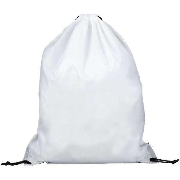Oriole zippered drawstring backpack - White
