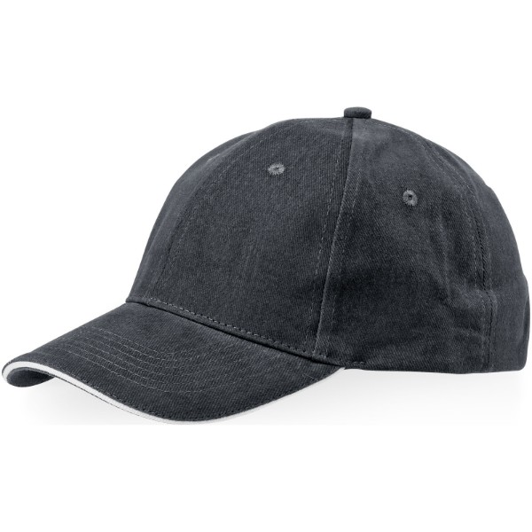 Challenge 6 panel sandwich cap - Grey