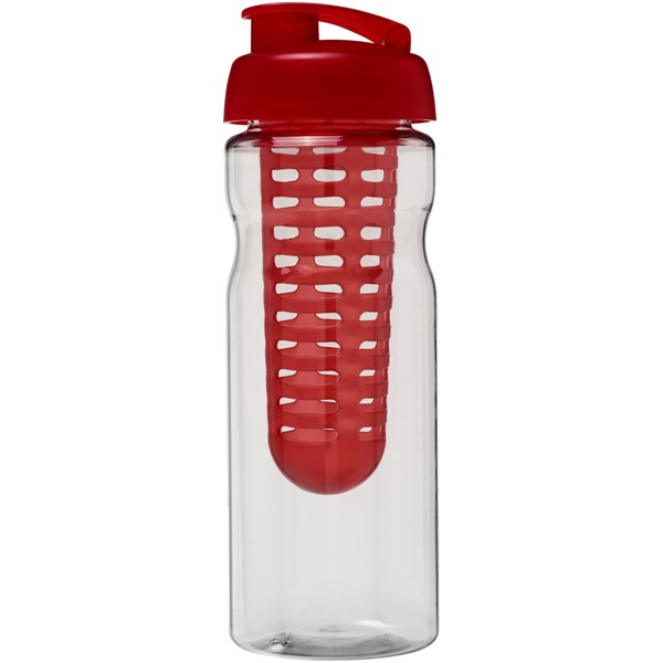 H2O Base® 650 ml flip lid sport bottle & infuser - Transparent / Red