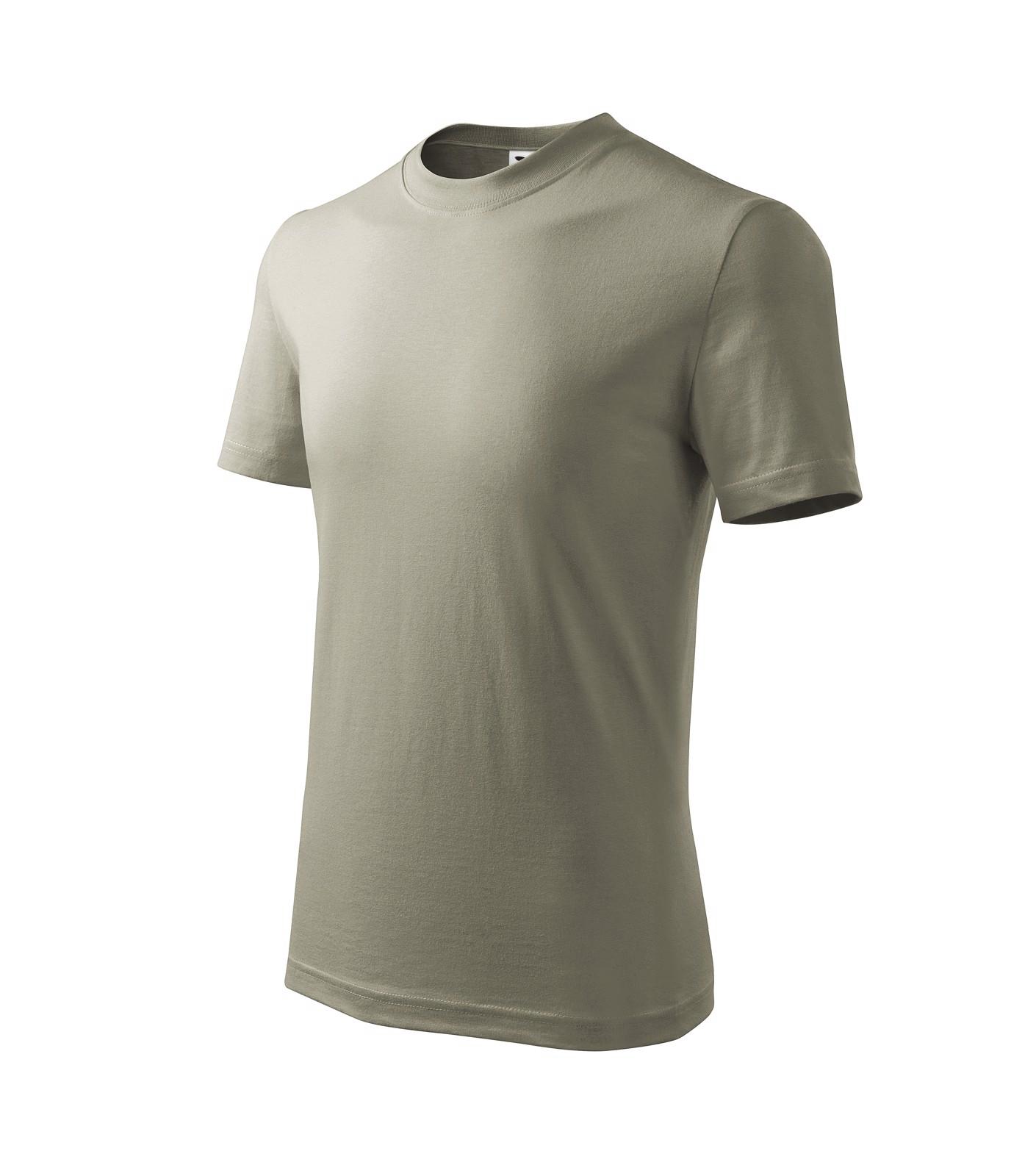Tričko dětské Malfini Basic - Světlá Khaki / 134 cm/8 let
