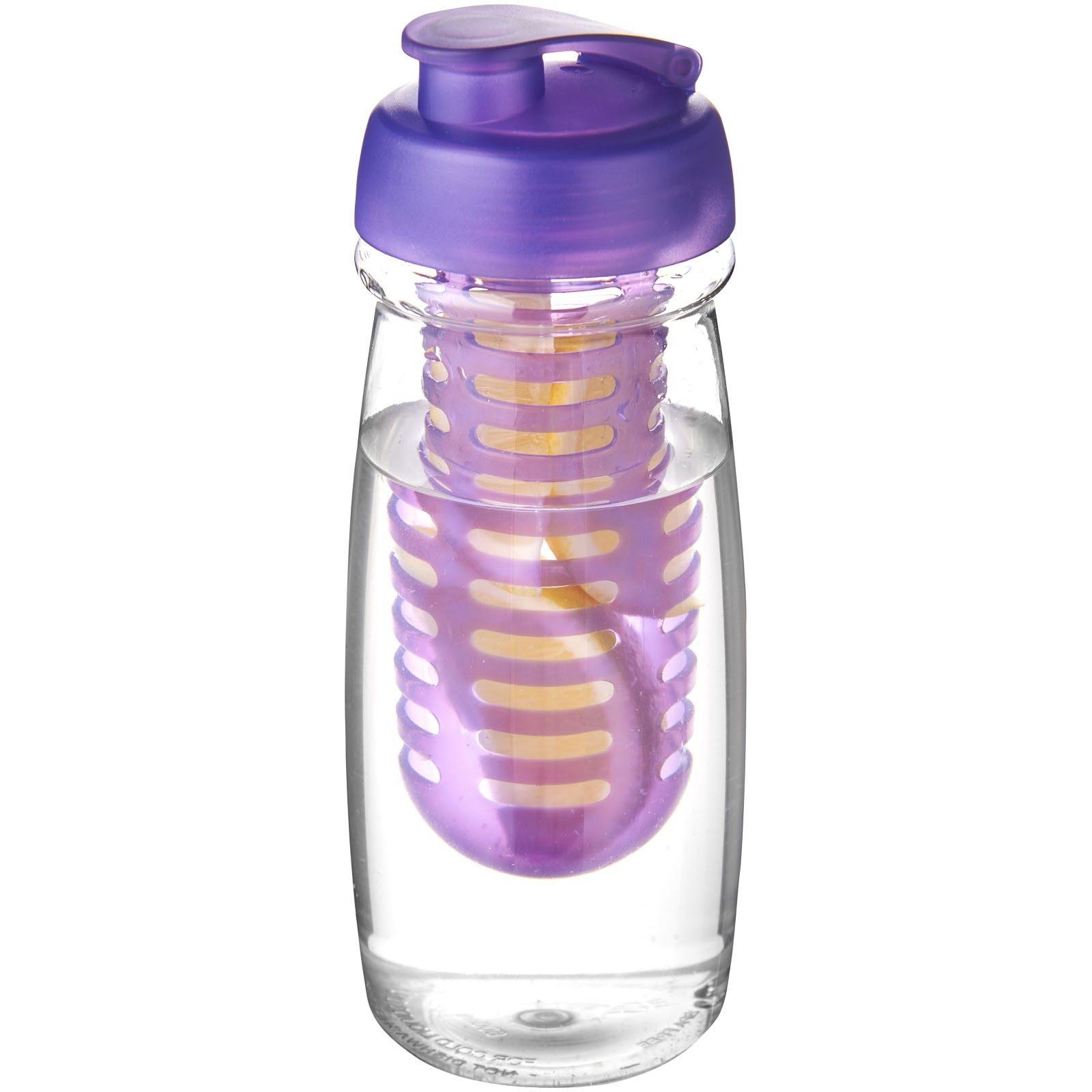 H2O Pulse® 600 ml flip lid sport bottle & infuser - Transparent / Purple