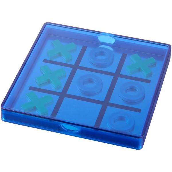 Winnit magnetisches Tic-Tac-Toe-Spiel - Blau / Transparent
