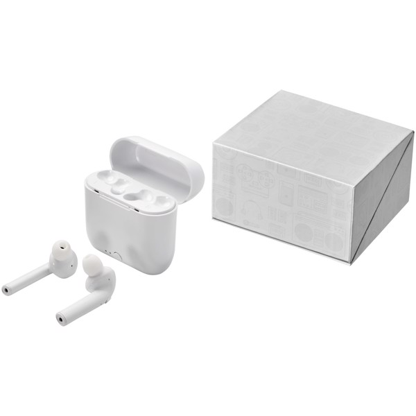 Essos True Wireless Auto-Pair-Ohrhörer mit Etui - Weiss