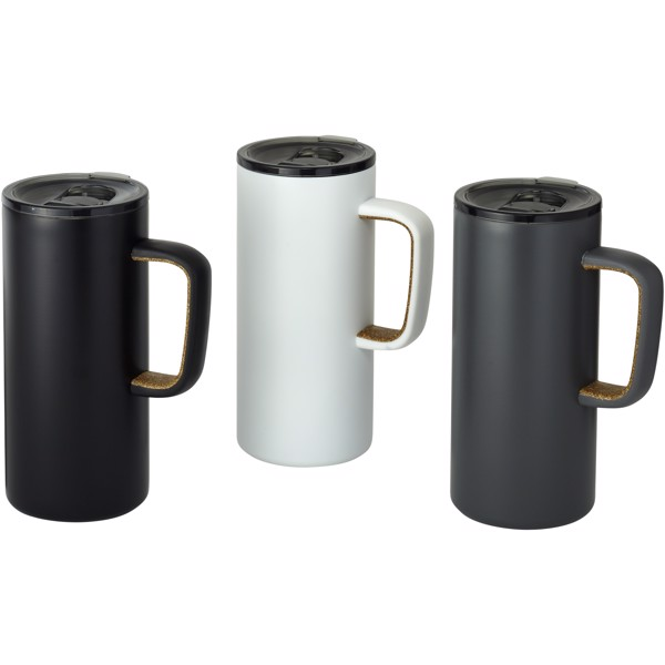 Valhalla 500 ml copper vacuum insulated mug - White