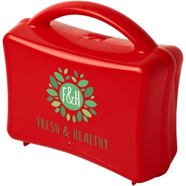 Box na oběd Stubi junior - Červená s efektem námrazy