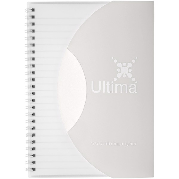Curve A5 notebook - Frosted clear / White