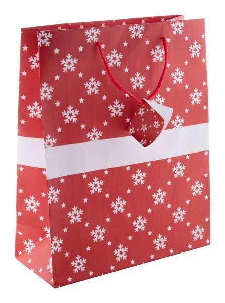 Vánoční Taška Palokorpi L, Velká - Červená / Bílá