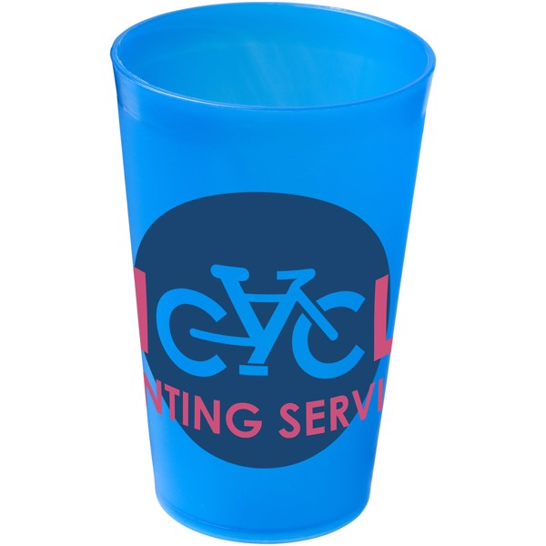 Drench 300 ml plastic tumbler - Frosted blue