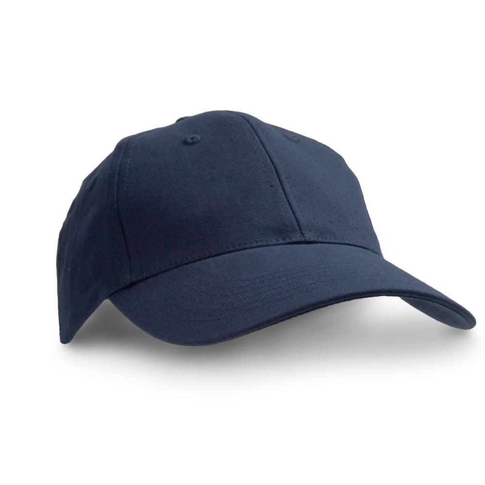 CHRISTIAN. Καπέλο με καμβά από 100% βαμβάκι - Μπλε