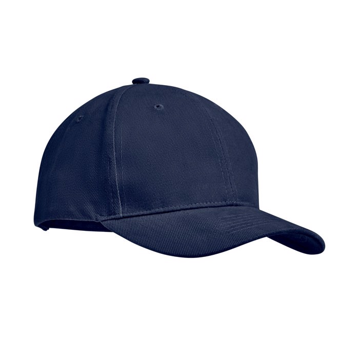Brushed heavy cotton 6 panel Ba Tekapo - Blue