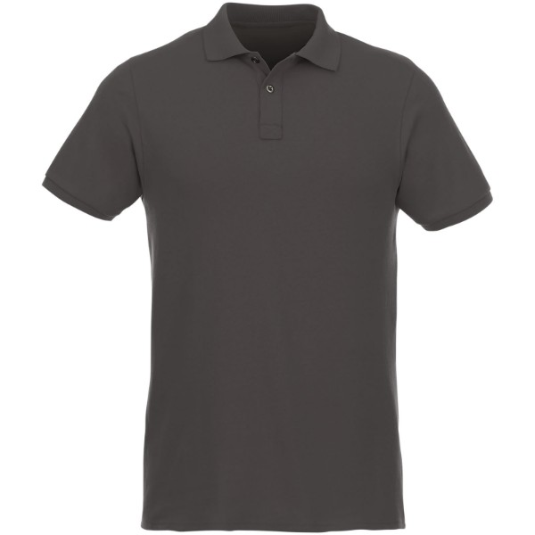 Beryl short sleeve men's GOTS organic GRS recycled polo - Storm grey / L
