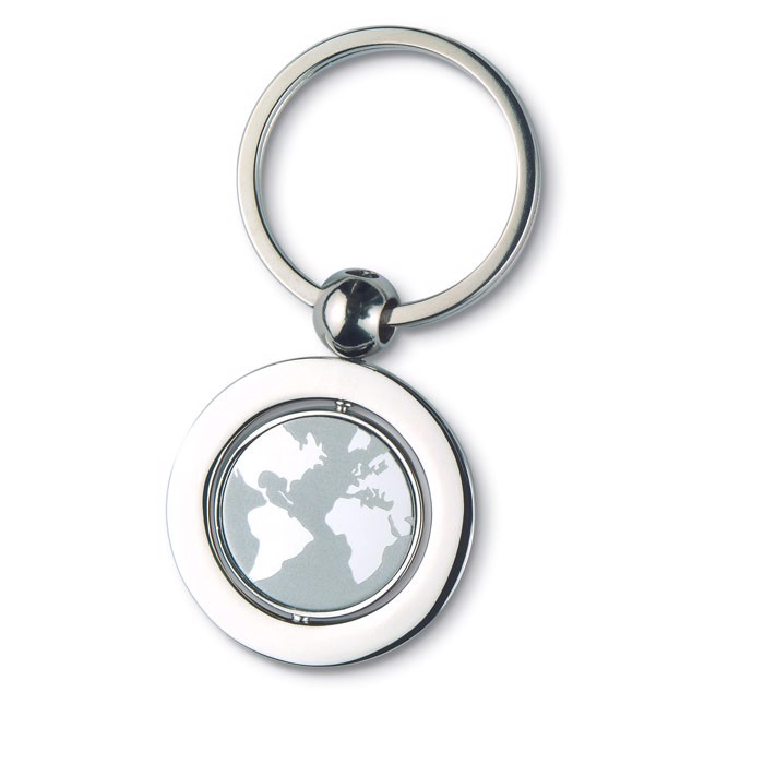 Globe metal key ring Globy