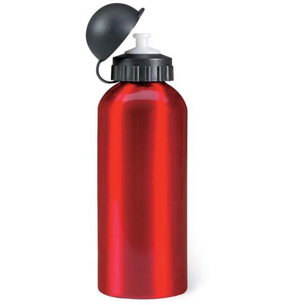 Aluminium bottle 600 ml Biscing - Red