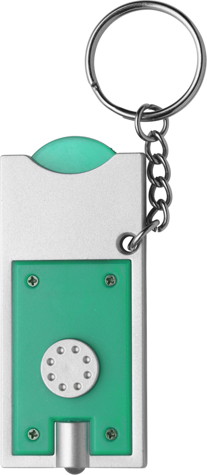 PS key holder with coin - Light Green