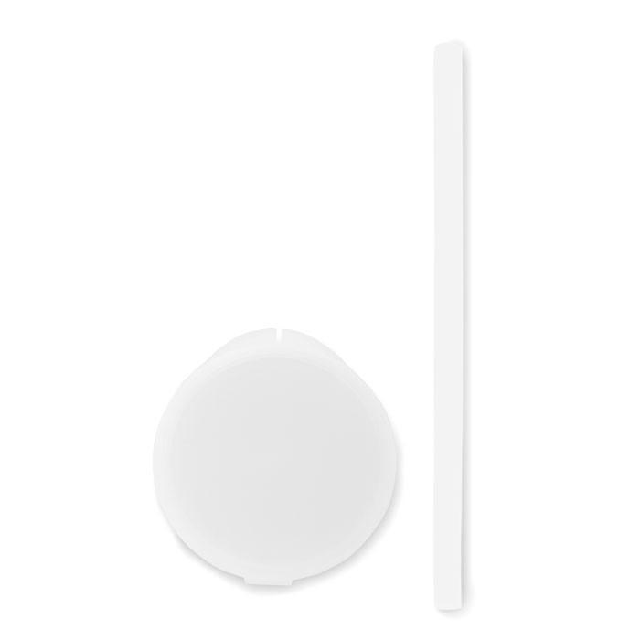 Silicone straw in PP case Flexy Straw - White