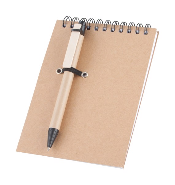 Notebook With Pen Concern - Natural / Black