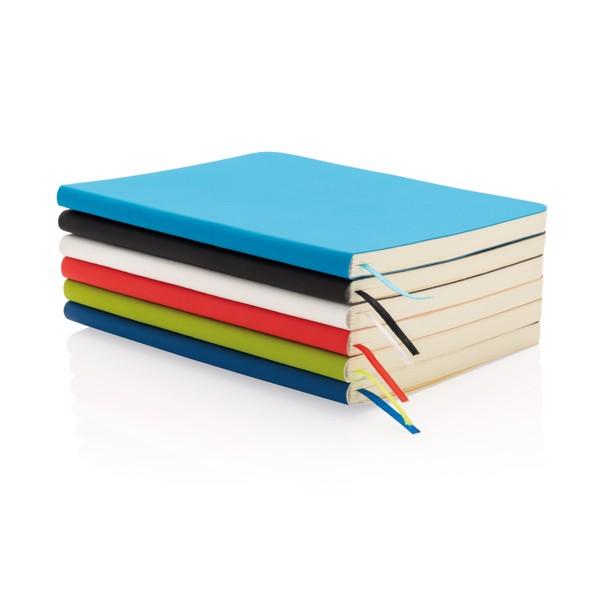 Základní poznámkový blok s měkkou vazbou - Modrá