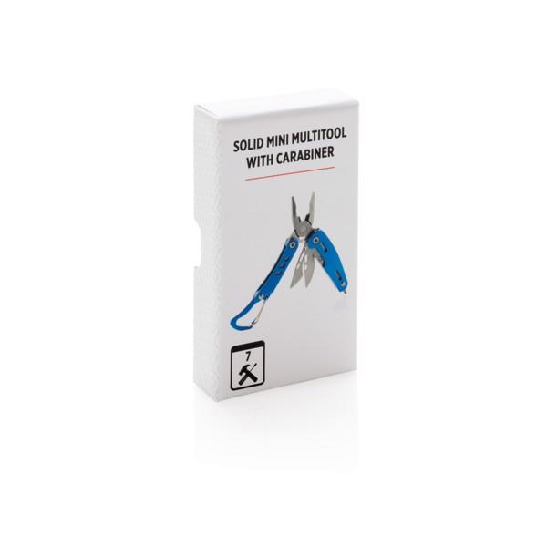 Solid többfunkciós mini szerszám karabínerrel - Kék
