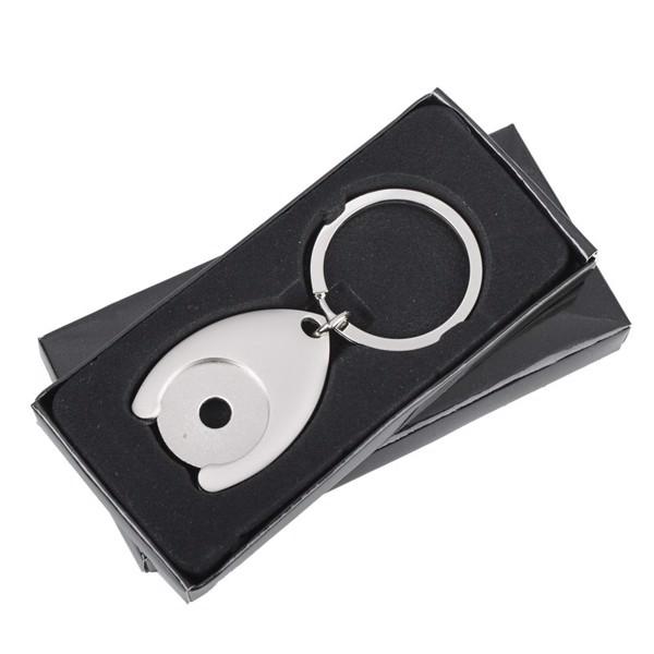 Metalowy brelok z żetonem Disc