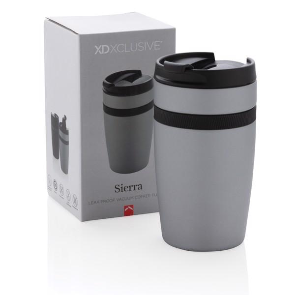 Nepropustný termohrnek Sierra - Stříbrná / Černá