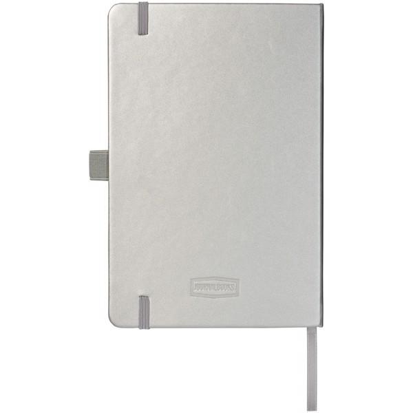 Vázaný poznámkový blok A5 Nova - Stříbrný