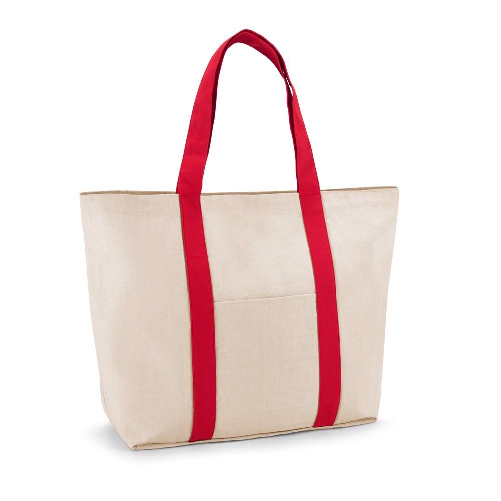 VILLE. 100% bavlněná plátěná taška - Červená