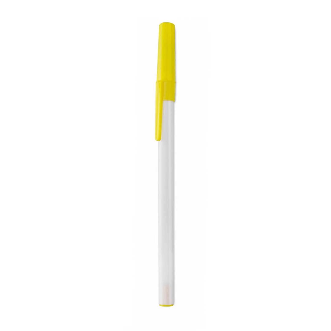 Esferográfica Elky - Branco / Amarelo