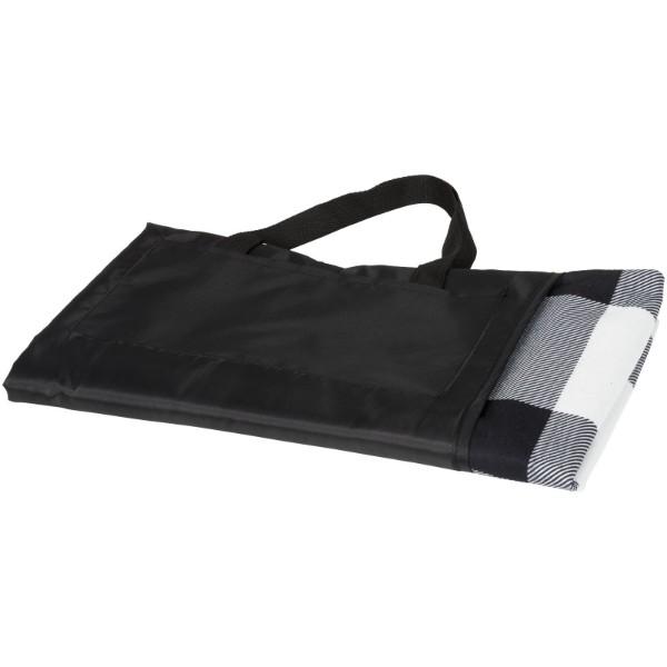 "Manta de pícnic ""Buffalo"" - Blanco / Negro intenso / Gris"