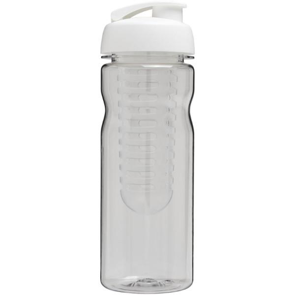 H2O Base Tritan™ 650 ml flip lid bottle & infuser - Transparent / White