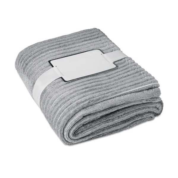 Yarn dyed flannel blanket Arosa - Grey