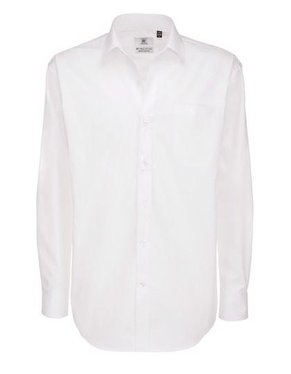 Twill Shirt Sharp Long Sleeve / Men - White / M