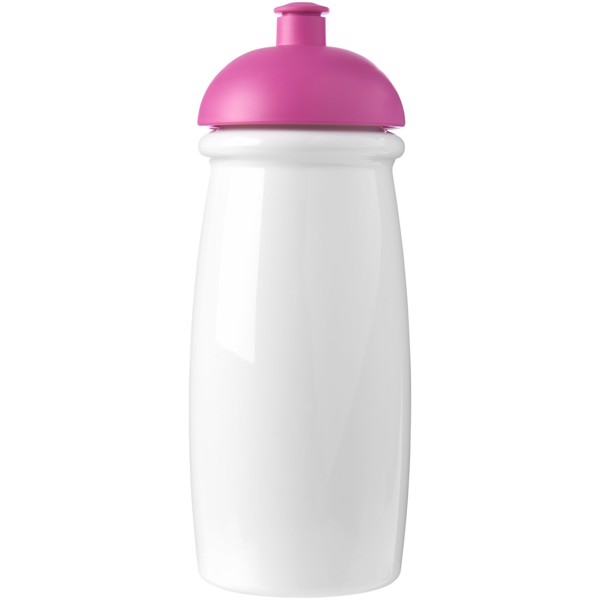 H2O Pulse® 600 ml dome lid sport bottle - White / Pink