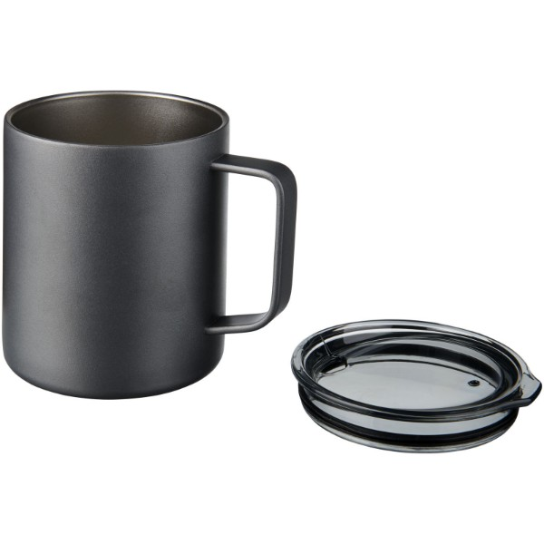 Rover 420 ml copper vacuum insulated mug - Grey