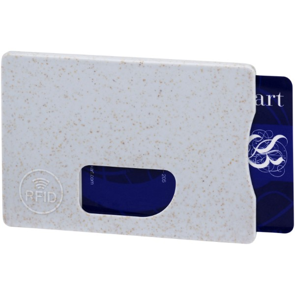 Straw RFID card holder - Grey
