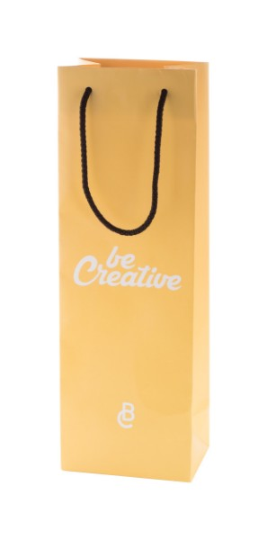 Custom Made Paper Shopping Bag CreaShop W, Wine - Multicolour