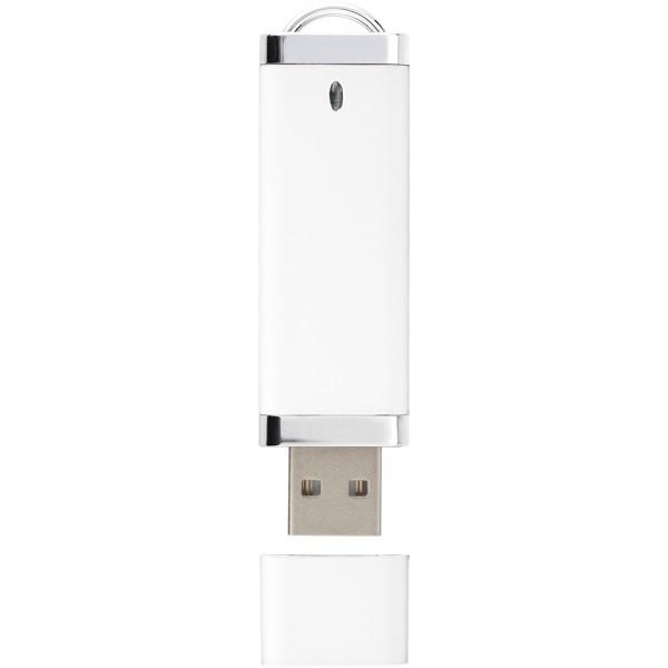 USB disk Flat, 4 GB - Bílá