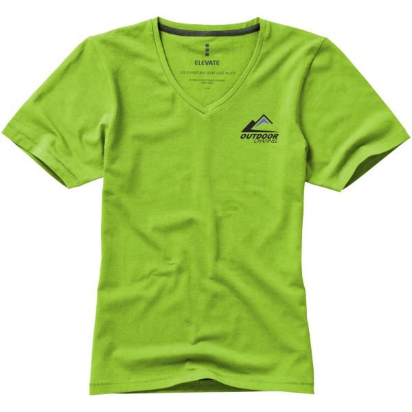 Kawartha short sleeve women's GOTS organic t-shirt - Apple green / XS