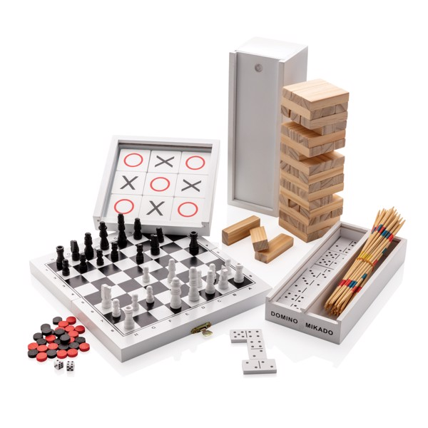 Desková hra 3 v 1 v dřevěné krabičce