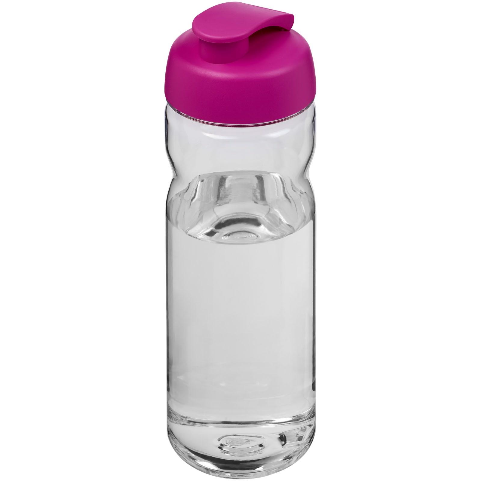 H2O Base Tritan™ 650 ml flip lid sport bottle - Transparent / Pink