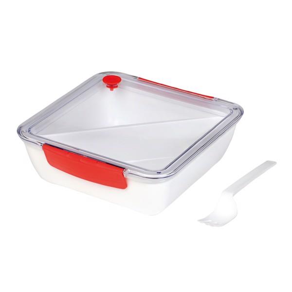Obědová Krabička Delicious / Bílá / Červená