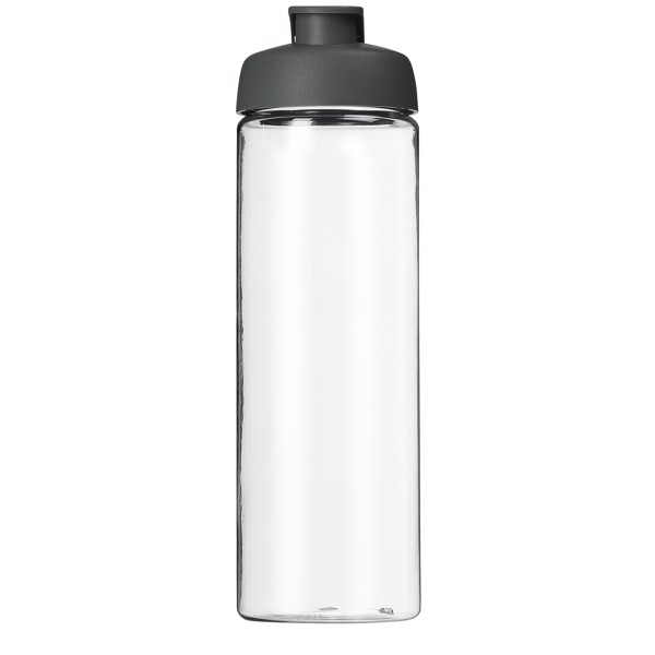H2O Vibe 850 ml flip lid sport bottle - Grey