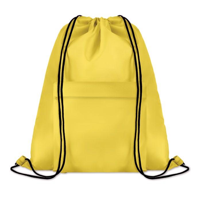 Großer Beutel mit Kordelzug Pocket Shoop - gelb