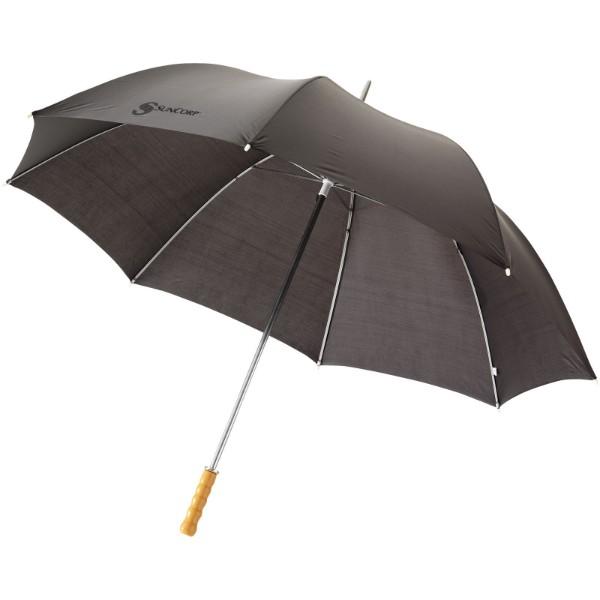 """30"""" golfový deštník Karl s dřevěnou rukojetí - Černá"""