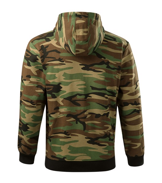 Mikina pánská Malfini Camo Zipper - Camouflage Brown / XL