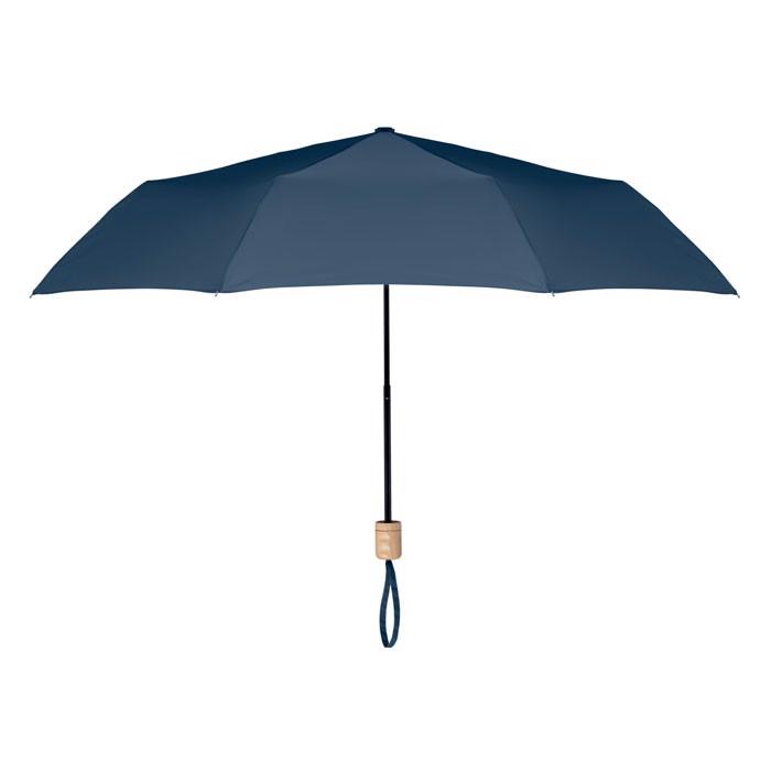Foldable umbrella RPET pongee Tralee - Blue