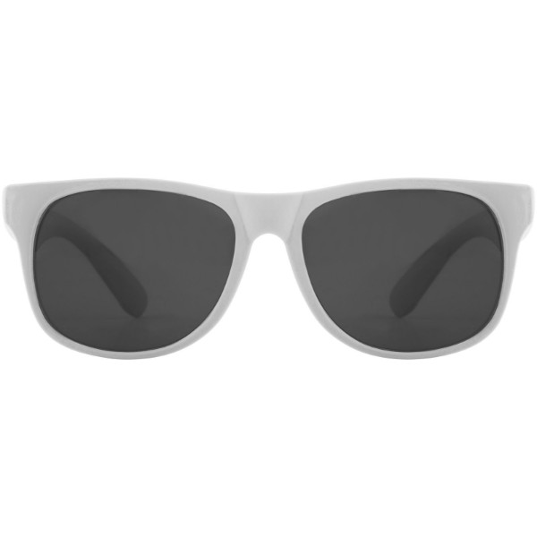 Retro single coloured sunglasses - White